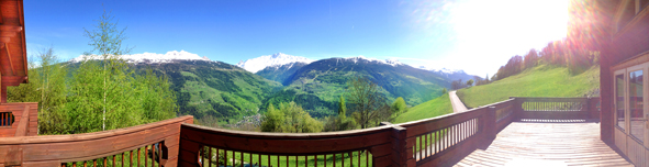 The 180-degree view from our terrace